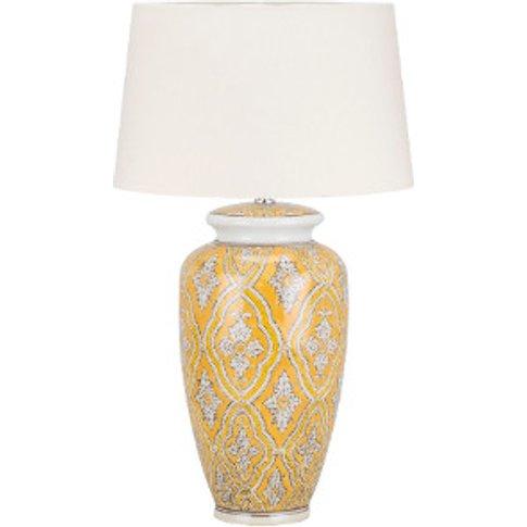 Hand Painted Mustard Table Lamp - Mustard