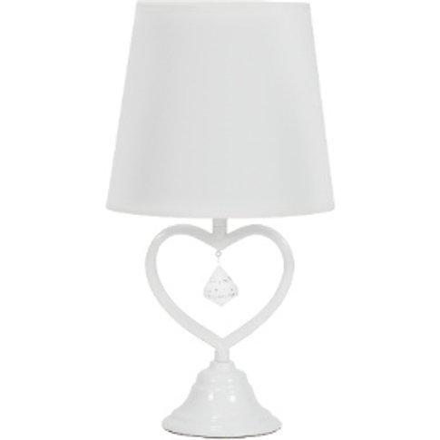 Love Heart Table Lamp - White