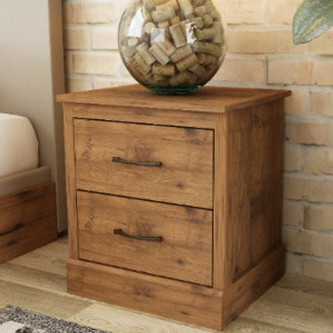 Camford Two Drawer Bedside Table