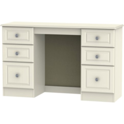 Pembury Kneehole  Dressing Table - Cream