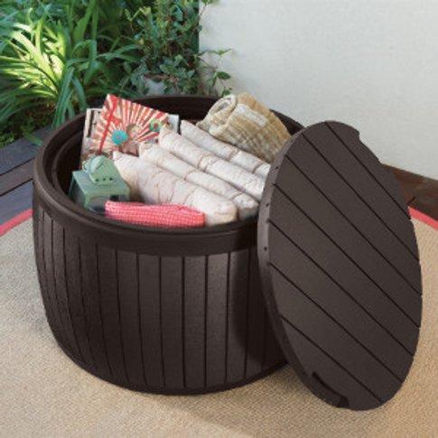 Keter 140L Circa Wood Garden Storage Box