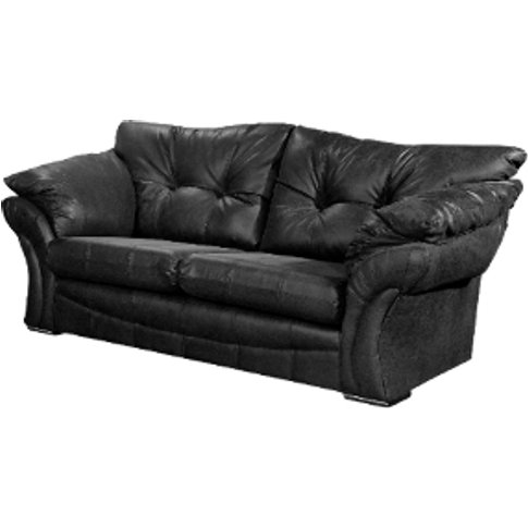 Florida Three Seater Rancho Sofa  - Black
