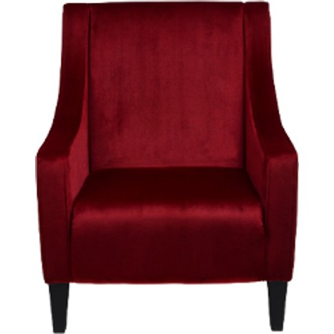 Brigette Accent Chair - Cranberry
