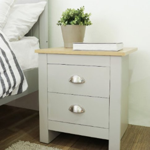 Lexington Two Drawer Bedside Table