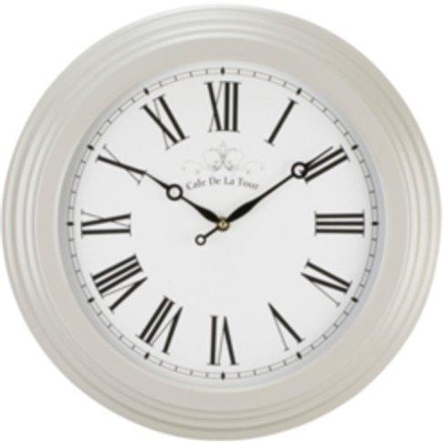 Cafe De La Tour Clock - Pebble