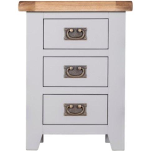 Kinsale Three Drawer Bedside Table - Grey