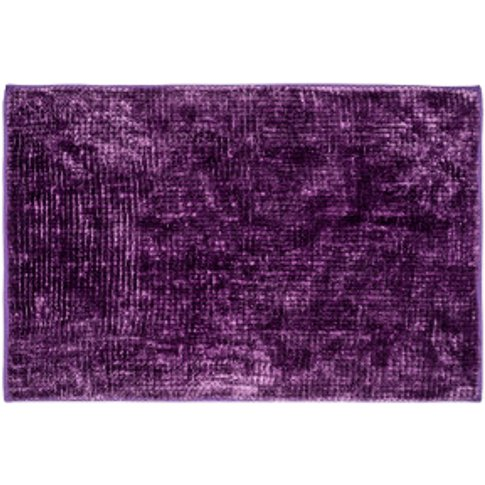 Luxury Chenille Bath Mat - Purple