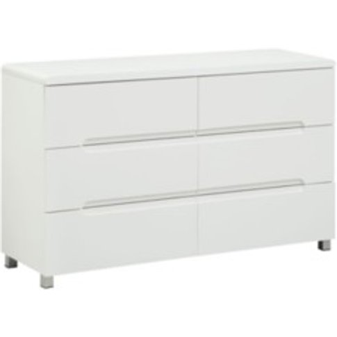 Blanco Six Drawer Chest - White