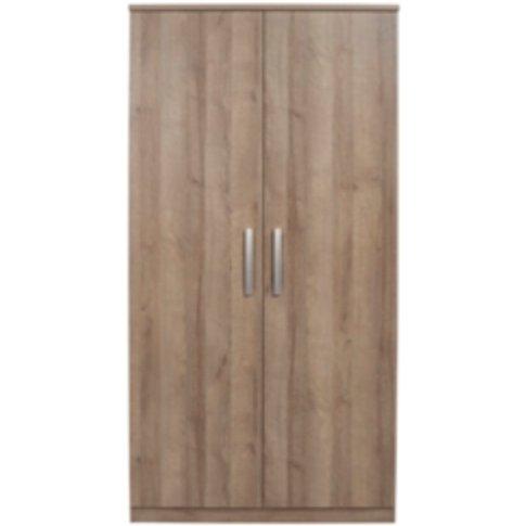 Riviera Two Door Wardrobe - Medium Oak