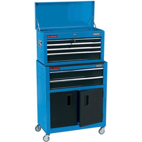 """Draper 24"""" Combined Roller Cabinet Tool Chest - Blue"""