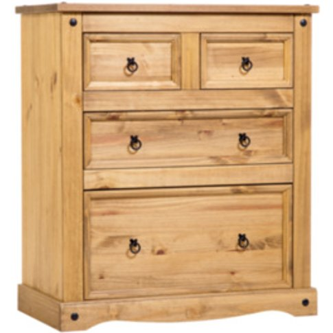 Corona Two plus Two Drawer Chest - Pine