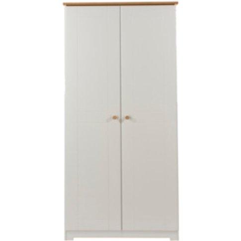 Colorado Two Door Wardrobe - Warm White