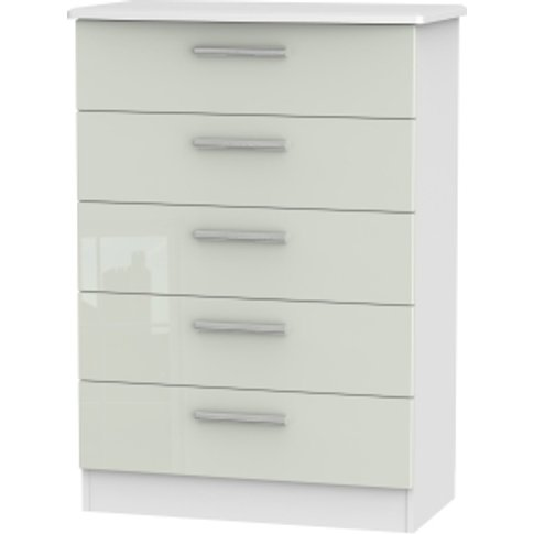 Kensington Kashmir Five Drawer Chest - White