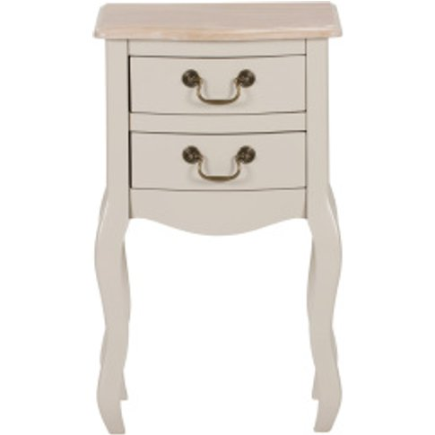 Verity 2 Drawer Bedside Table - Grey