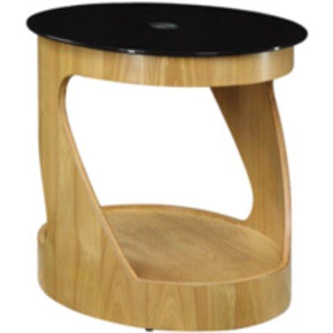 Curve Lamp Table  - Oak