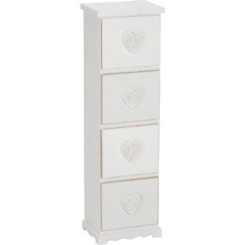 Four Drawer Storage Cabinet - White