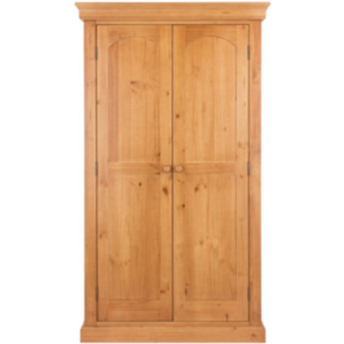 Edwardian Two Door Wardrobe - Brown
