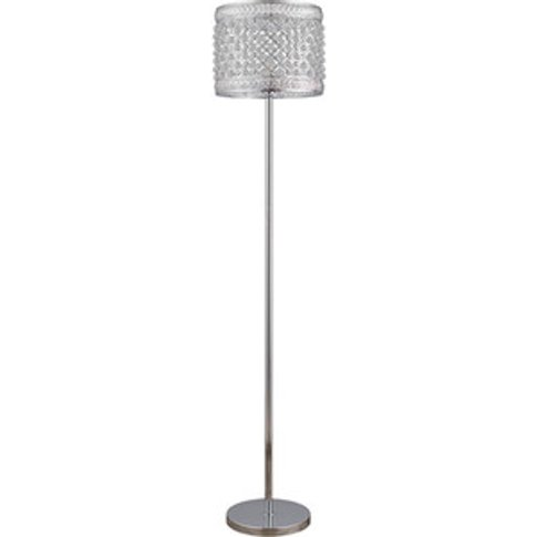 Scarlett Jewelled Crystal Floor Lamp - Chrome