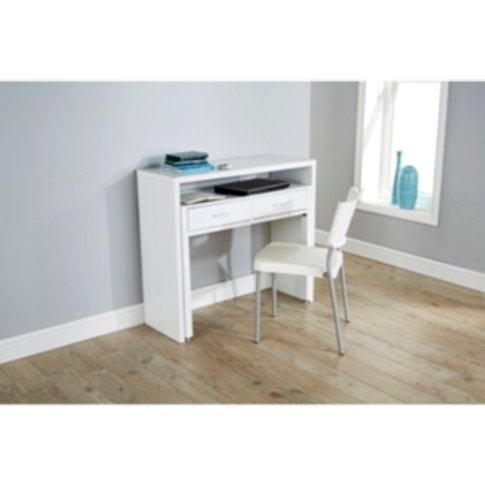 Regis Extending Console Desk - White