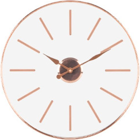 Round Glass Copper Metal Clock