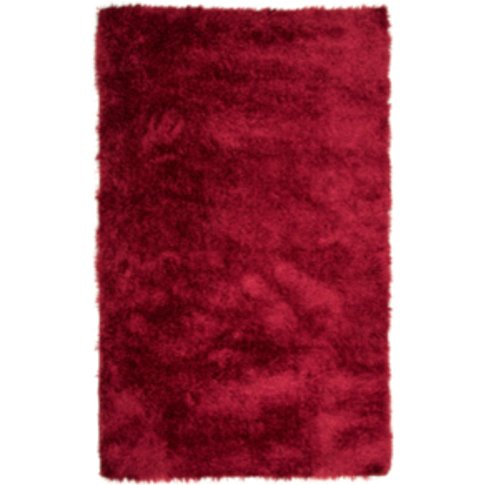 Plush Heavy Weight Rug - Red / 135cm