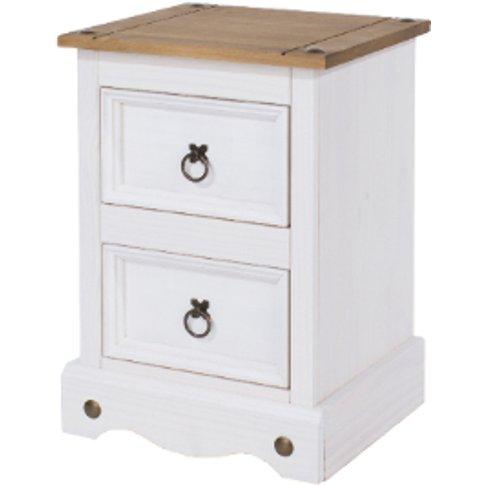 Corona Petite White Bedside Cabinet