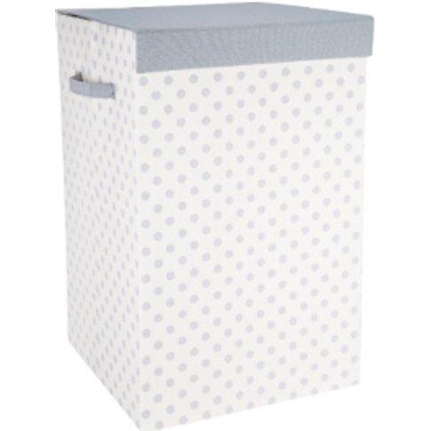 Polka Grey Laundry Basket - Grey