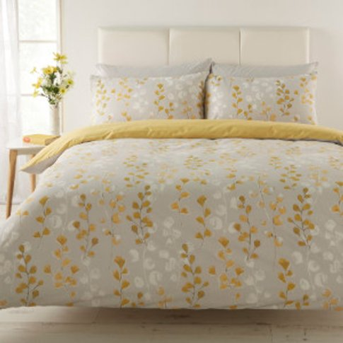 Honour Yellow Duvet Cover And Pillowcase Set - Super...