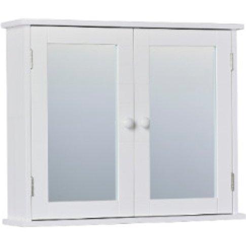 Kingston Double Mirror Wall Cabinet - White