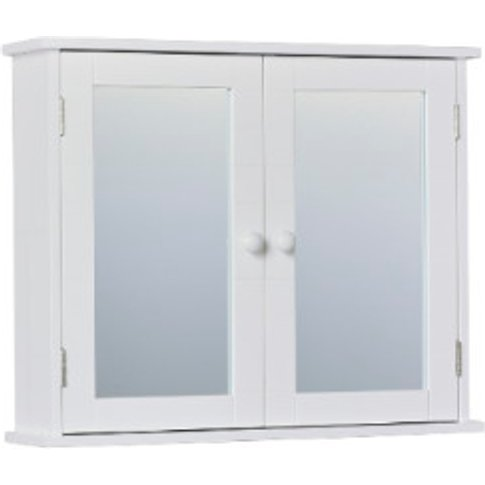Kingston Double Mirror Wall Cabinet - White
