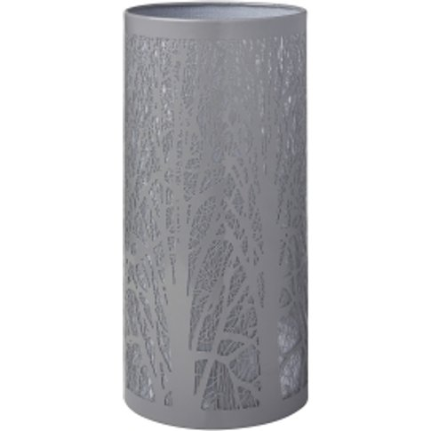 Grey Tree Scene Table Lamp - Grey