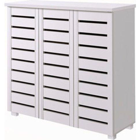 Essential Design Shoe Cabinet - White / 3