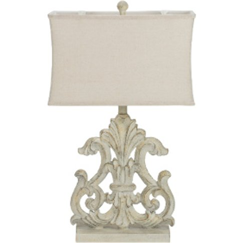 Fleur De Lis Table Lamp - Cream