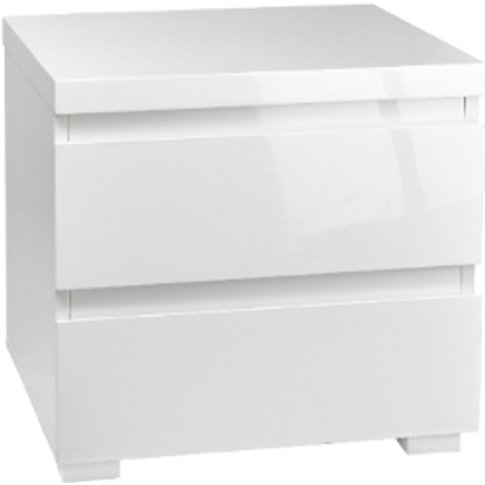 Puro 2 Drawer Bedside Table - White