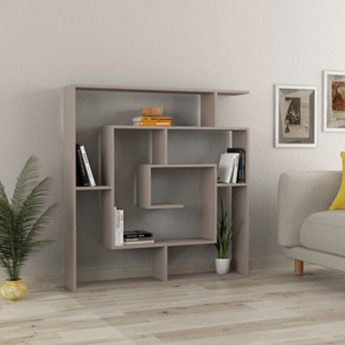 Decortie Labirent Bookcase - Light Mocha