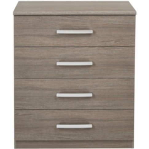 Riviera Four Drawer Chest - Dark Oak