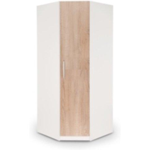 Ashburton Corner Wardrobe - White / Oak