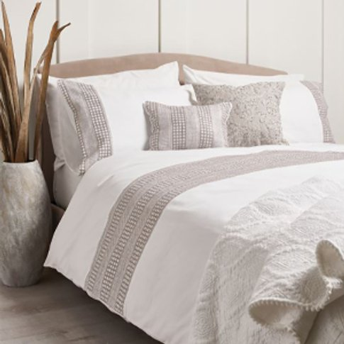 Charlotte Embroidered Linen Duvet Cover and Pillowca...