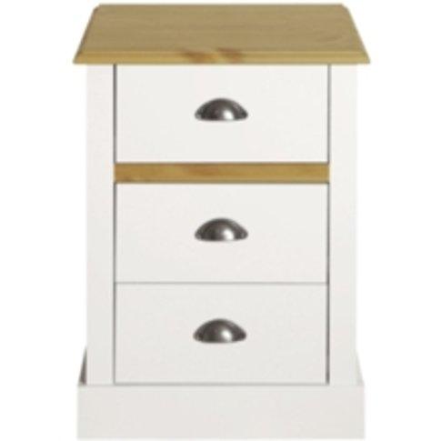 Sandringham Three Drawer Bedside Cabinet - White