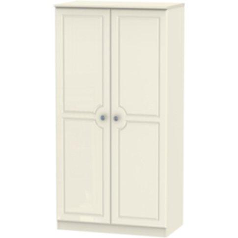 Pembury Large Double Door Wardrobe - Cream