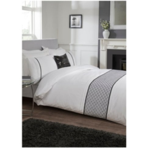 Tokyo Embroidered Duvet Cover and Pillowcase Set - W...