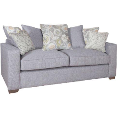 New York Three Seater Scatterback Sofa - Barley Silv...