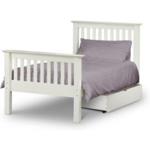 Barcelona Bed Frame - White / King / 81cm