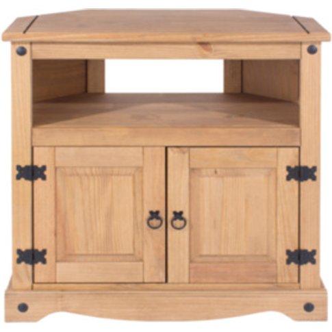 Corona Corner TV Cabinet - Pine