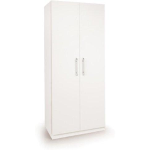 Ashburton Two Door Wardrobe - White / White