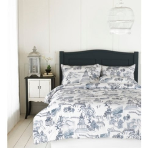 Chinese Garden Printed Duvet Cover And Pillowcase Se...