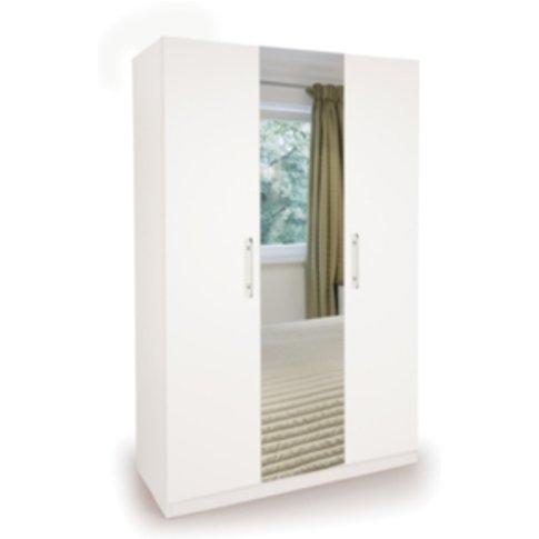 Ashburton Three Door Wardrobe With Mirror - White / ...