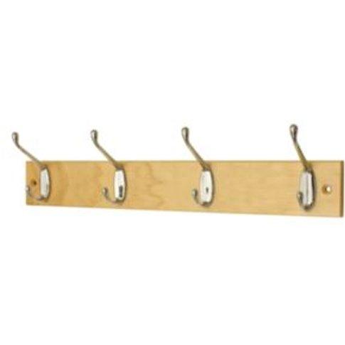Pine Coat Hook Board - 4 Hooks