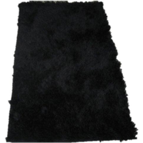 Soft Silky Mix Rug - Black / 90cm