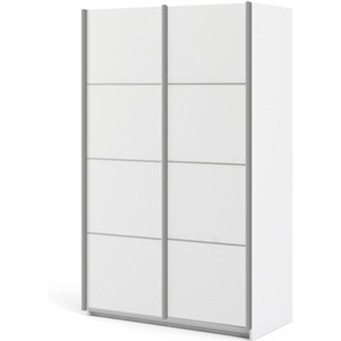 Valentino Sliding Wardrobe With 5 Shelves - White